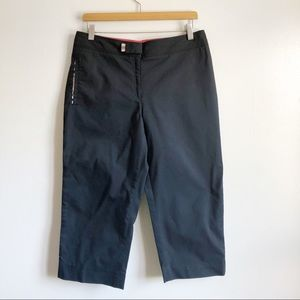 Burberry Golf Black Capris size 10